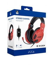 Big Ben Stereo Headset V3 - červený (PS4)
