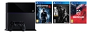 Sony Playstation 4 1TB slim + 3 hry (Uncharted 4, DriveClub, The Last of Us) (PS4)