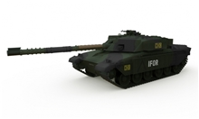 R/C Tank British MBT Challenger 1 Forest 1/72