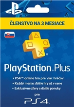 Playstation Plus 90 Days SK (PS4)